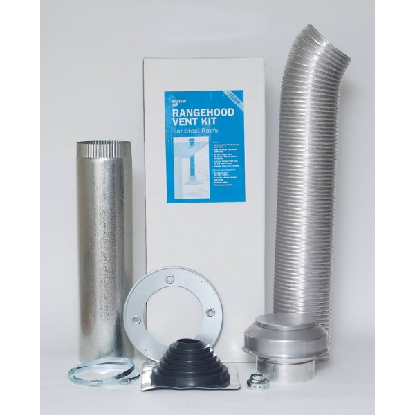 6 Duct Fan Roof Vent Kit : Mm steel roof range hood vent kit pacific air