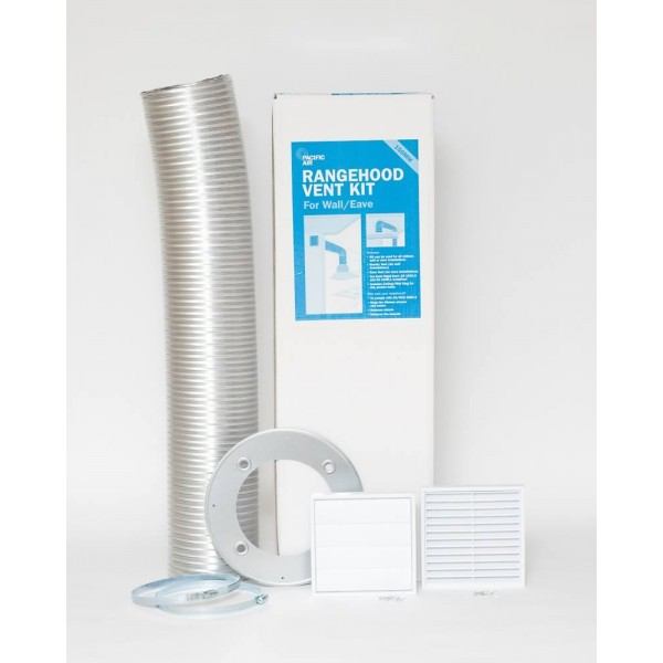 125mm Rangehood Vent Kit For Wall And Eave Pacific Air